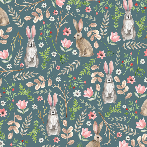 Spring Garden Digital Custom Print Fabric