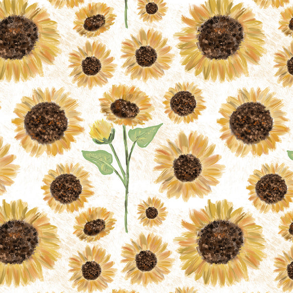Sunflowers Digital Custom Print Fabric
