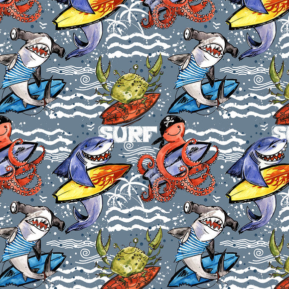 Surf Digital Custom Print Fabric