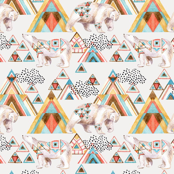 Tribal Bears Digital Custom Print Fabric