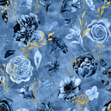 Twilight Garden Digital Custom Print Fabric