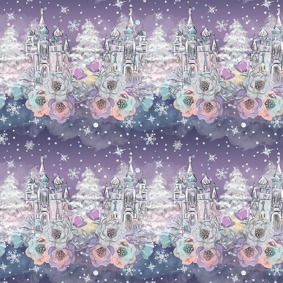 Winter Castle Digital Custom Print Fabric