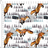 Winter Foxes Digital Custom Print Fabric