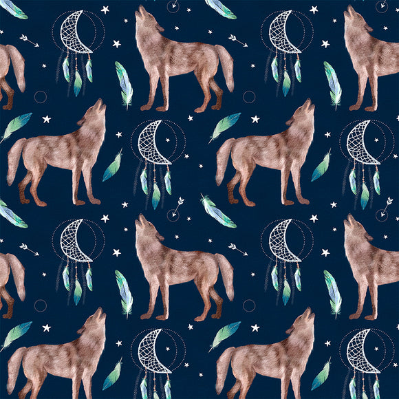 Wolves Digital Custom Print Fabric