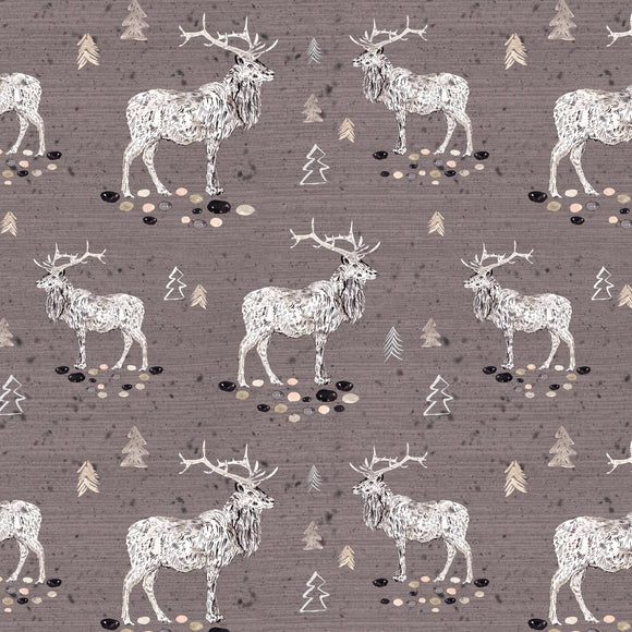 Woodland Elks Digital Custom Print Fabric