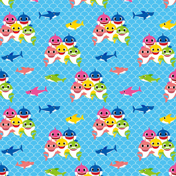 Baby Shark Scales Digital Custom Print Fabric