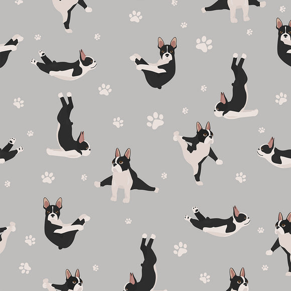 Dog-a-yoga Digital Custom Print Fabric