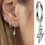 Load image into Gallery viewer, # Sterling Silver Lightning Earrings