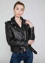 Load image into Gallery viewer, Moto Style Vegan Leather Jacket (Women)
