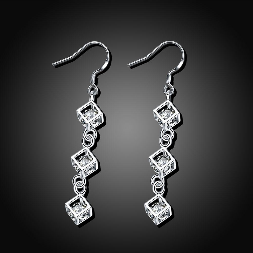 Trio Cube Drop Earring