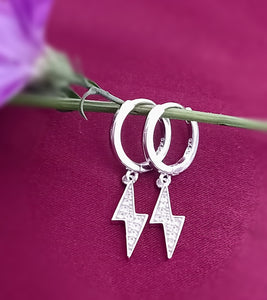 # Sterling Silver Lightning Earrings