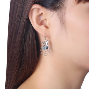 Sterling silver Crystals Earrings