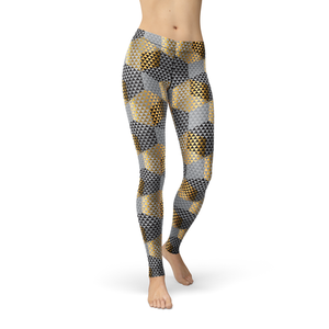 Avery Golden Geometric Leggings