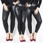 Load image into Gallery viewer, Plus Size Cashmere Leather Leggings