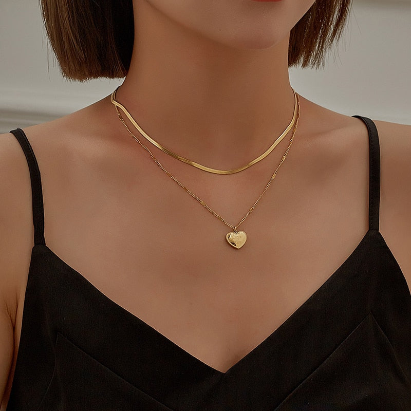 multi-layer gold necklace