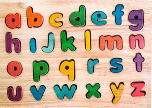 Lower Case Letter Puzzle - Coloured