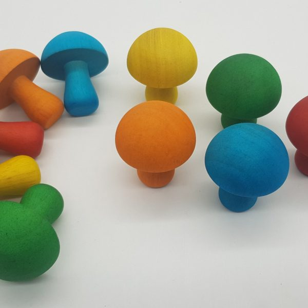 Coloured Mushrooms 10 Pieces
