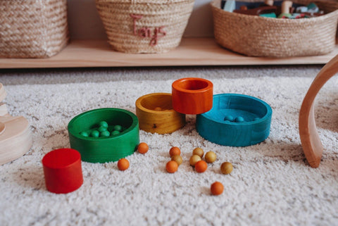 Natural Coloured Stacking and Nesting Bowls