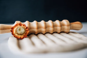 Wooden Patterned Playdough Roller