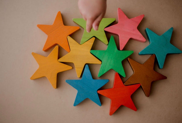 Wooden Stars- Set of 10