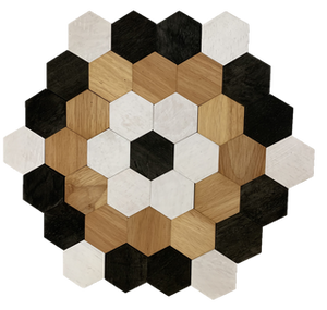 Hexagon Tessellated Set Dyed/45pc