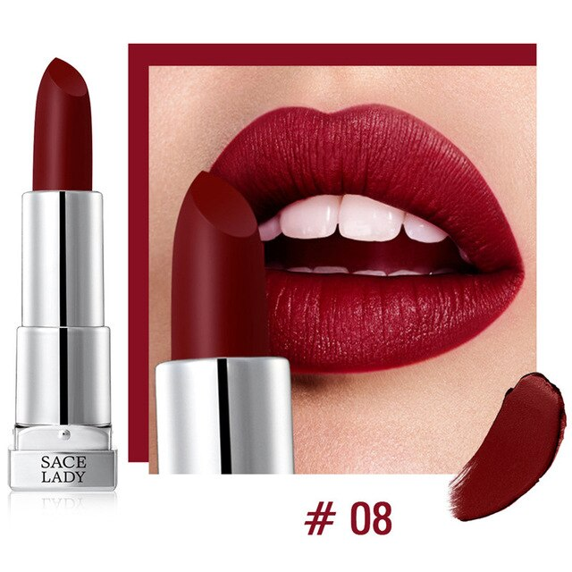 9 Colors Silky Alcohol-free Matte Lipstick