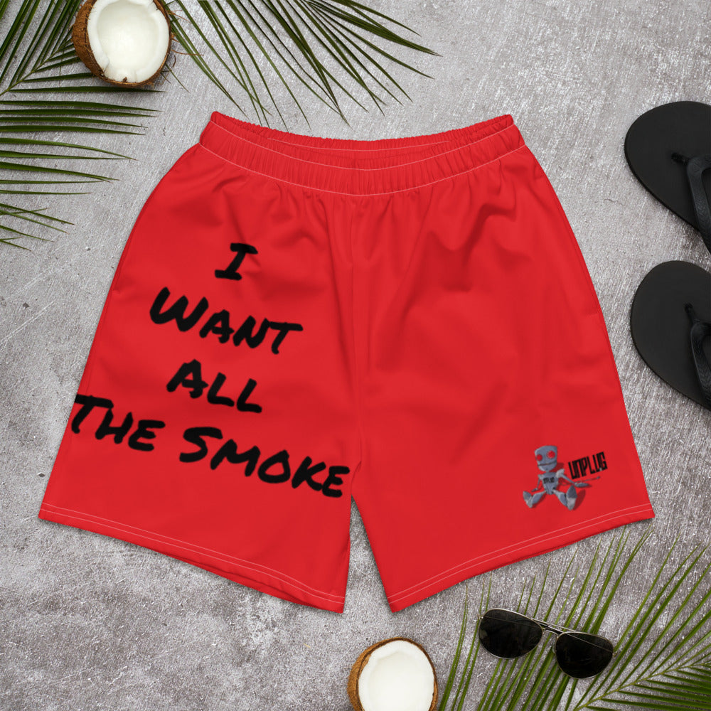 I WANT ALL THE SMOKE Men's Athletic Long Shorts