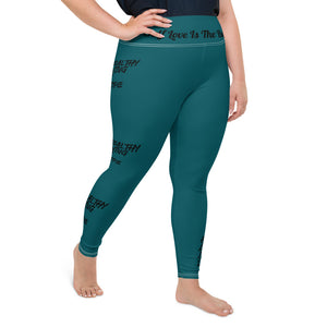 Self Love Teal Plus Size Leggings