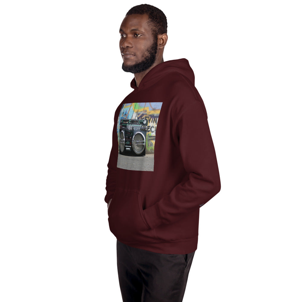 Ghetto Blaster Unisex Hoodie (No Writing On The Back)