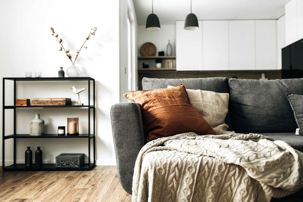 Image of room with sofar all in neutral colours