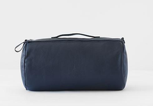 Load image into Gallery viewer, navy leather duvet travel set