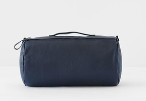 navy leather duvet travel set