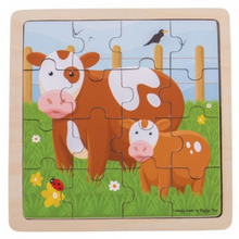 Load image into Gallery viewer, Bigjigs Toys - Cow & Calf Puzzle (Pre Order)