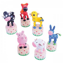 Load image into Gallery viewer, Bigjigs Toys - Farm Animal Push Ups