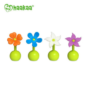 Haakaa - Silicone Breast Pump Flower Stopper - Purple