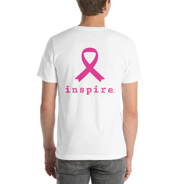 inspire® Thin Blue Line Against Breast Cancer Short-Sleeve Unisex T-Shirt