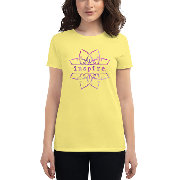 inspire Lotus Flower Women's short sleeve t-shirt