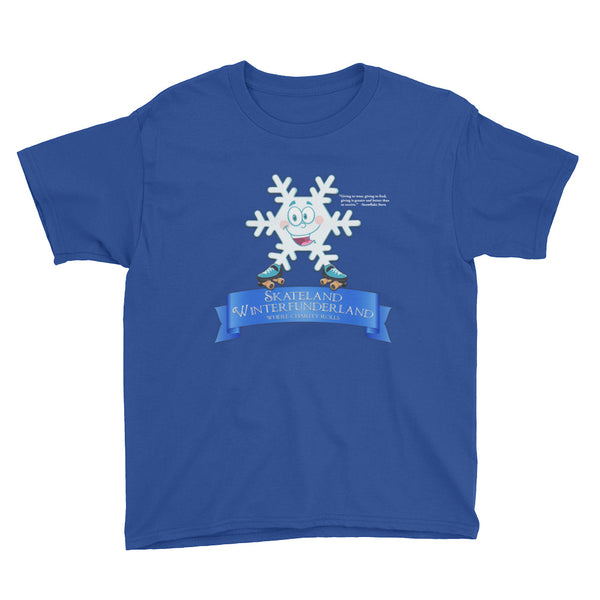 Skateland Winterfunderland Snowflake Steve Youth Short Sleeve T-Shirt