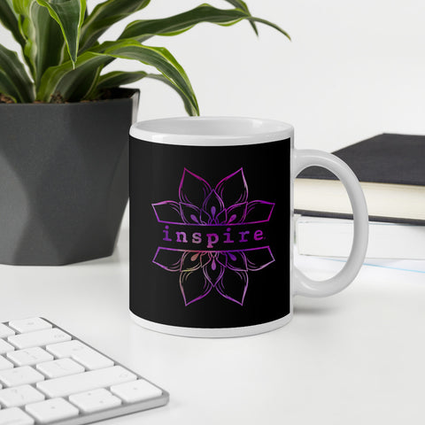 inspire Lotus Flower Coffee Mug