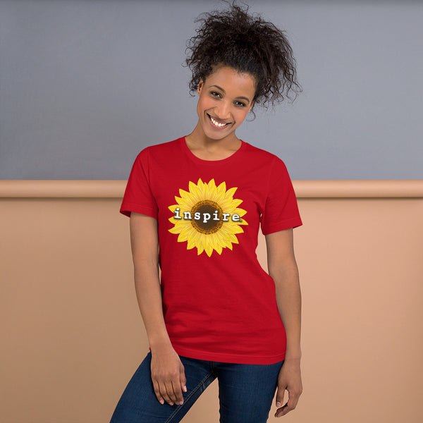 inspire Sunflower Short-Sleeve Unisex T-Shirt