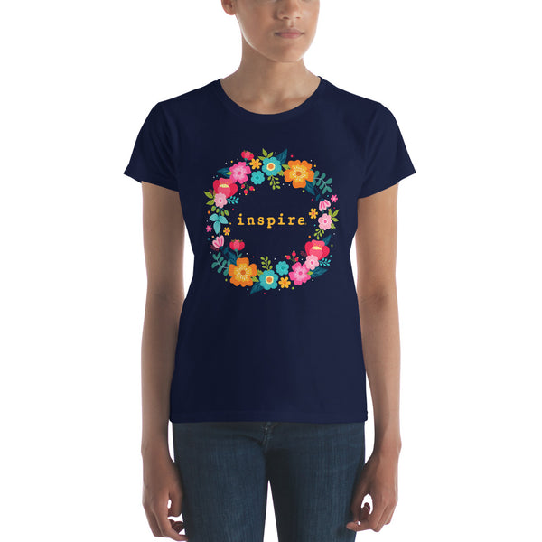 Floral Wreath inspire Brand Women's short sleeve t-shirt