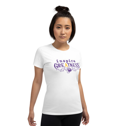 inspire Greatness Terrance Burney Inspired Champions Edition Women's short sleeve t-shirt