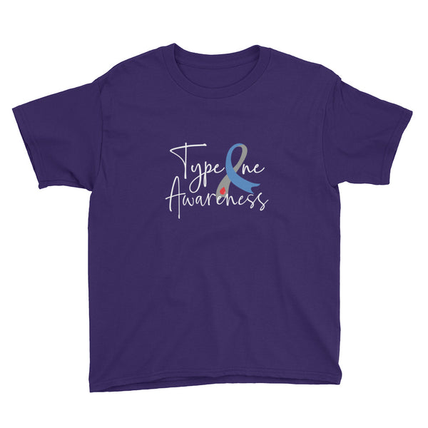 Type One Diabetes Awareness Youth Short Sleeve T-Shirt