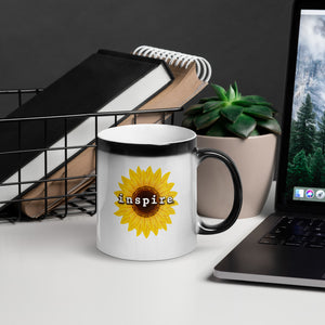 inspire Sunflower Glossy Magic Mug