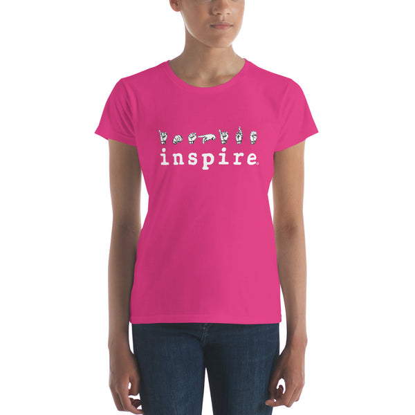 inspire ASL American Sign Language Women's short sleeve t-shirt