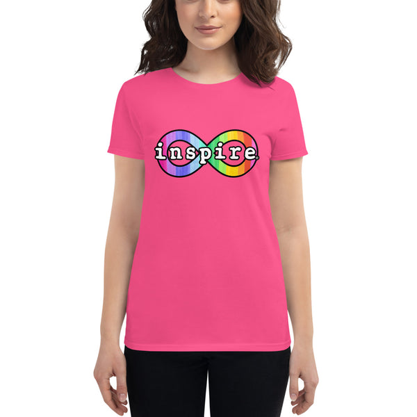 inspire Neurodiversity Awareness Rainbow Infinity Women's short sleeve t-shirt