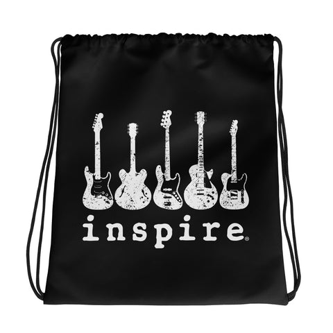 Guitar Rock inspire® Brand Drawstring bag