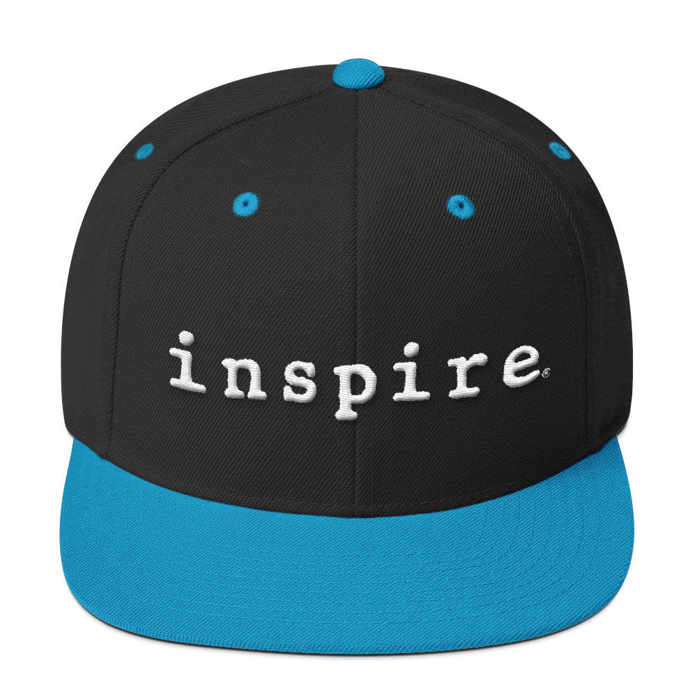 inspire Embroidered Wool Blend Snapback Hat