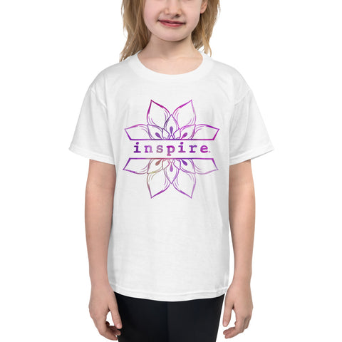 inspire Lotus Flower Youth Short Sleeve T-Shirt