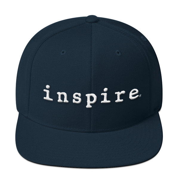 inspire Embroidered Wool Blend Snapback Hat In Assorted Colors